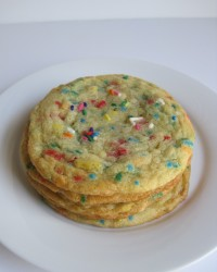 Birthday Cake Confetti Cookie Soft buttery cookie baked with sprinkles!