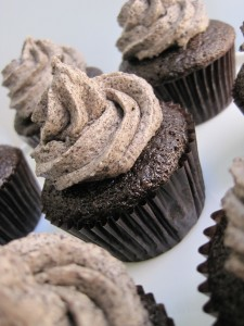 Chocolate Cookies n' Cream Moist chocolate cake with cookies n' cream (Oreo) buttercream filling, sprinkled with Oreo crumbs!