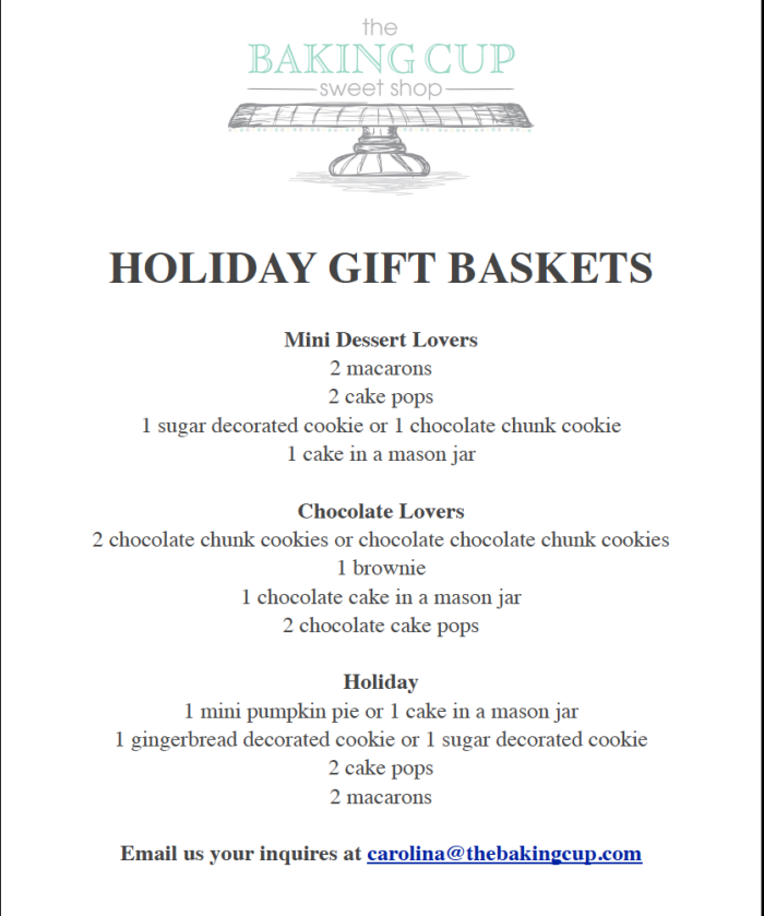 The Baking Cup Holiday Gift Baskets 2014